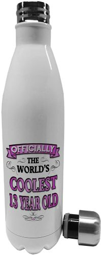 750ml Officially The Worlds Coolest 13-100 Year Old (Pink))